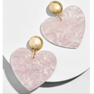 BaubleBar Jewelry - Pink heart earrings